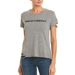 Wildfox Distressed I Need My Cyberspace Tee